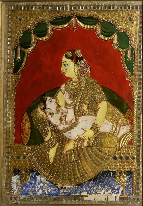 Woman_breast-feeding_a_boy,_Crafts_Museum,_New_Delhi,_India